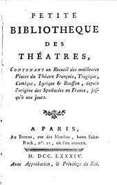 Petite bibliotheque des théatres: Chef d'œuvre de Longepierre. Chef-d'œuvre de Guymond de la Touche. La mort de Solon