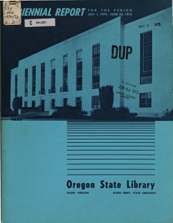 Biennial Report of the Oregon State Library to the     Legislative Assembly PDF
