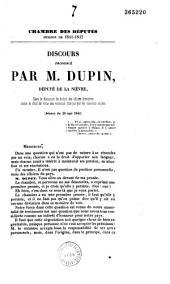 Discours dans la discussion du budget des affaires étrangères, contre le droit de visite des vaisseaux français par les vaisseaux anglais