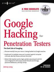 Google Hacking for Penetration Testers PDF