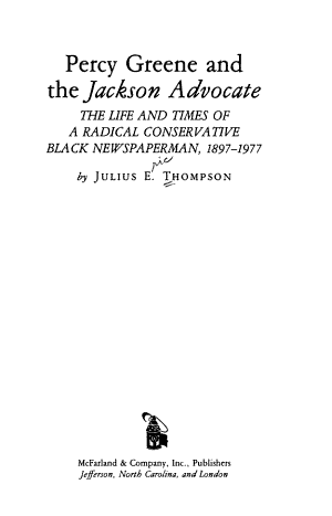 Percy Greene and the Jackson Advocate PDF