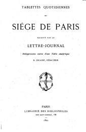 Tablettes quotidiennes du siège de Paris