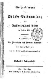 Verhandlungen der Stände-Versammlung des Großherzogtums Baden: Vom Landtage...