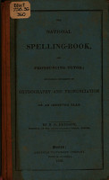 The National Spelling book  and Pronouncing Tutor PDF
