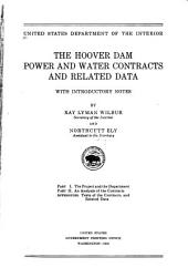 The Hoover dam power and water contracts and related data: with introductory notes