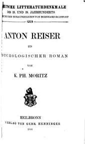 Anton Reiser: ein psychologischer Roman, Ausgabe 23