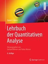Lehrbuch der Quantitativen Analyse: Ausgabe 8