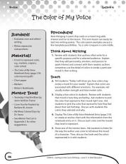 Writing Lesson Level 5  The Color of My Voice PDF