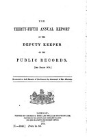 Annual Report by the Deputy Keeper of the Public Records PDF