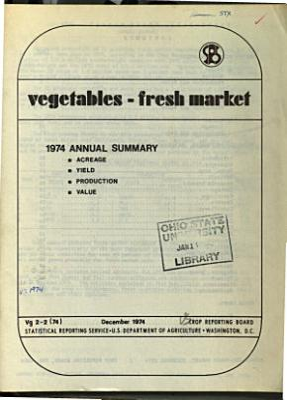 Vegetables  Annual Summary