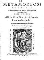 Le Metamorfosi Ridotte da Giovanni Andrea dell' Anguillara in ottava rima