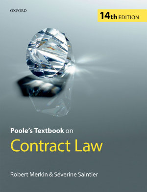 Poole s Textbook on Contract Law