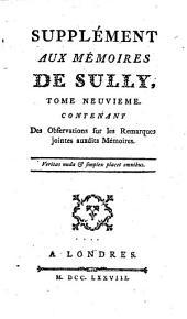 Mémoires de Maximilien de Béthune, duc de Sully, ministre de Henry IV: Volume9