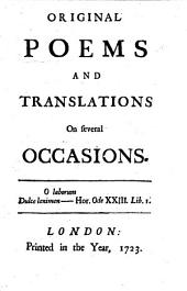 Original Poems, and translations, on several occasions [by R. Lely].