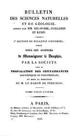 Bulletin des sciences naturelles et de géologie: Volumes21à22