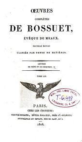 Oeuvres complètes de Bossuet: Volume53