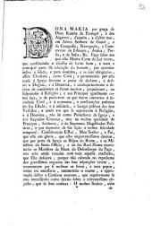 Dona Maria por graça de Deos Rainha de Portugal, e dos Algarves ... Faço saber aos que esta Minha Carta de Lei virem, que constituindo a escolha de livros bons, e uteis a principal parte da educação do homem, ...