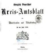 Königlich-bayerisches Kreis-Amtsblatt von Unterfranken und Aschaffenburg: für d. Jahr ... 1866