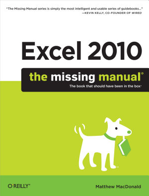 Excel 2010  The Missing Manual PDF