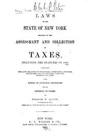 Laws of the State of New York Relating to the Assessment and Collection of Taxes ...