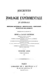 Archives de zoologie expérimentale et générale: Volume19