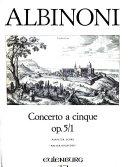Concerto B flat major for solo violin and string orchestra PDF