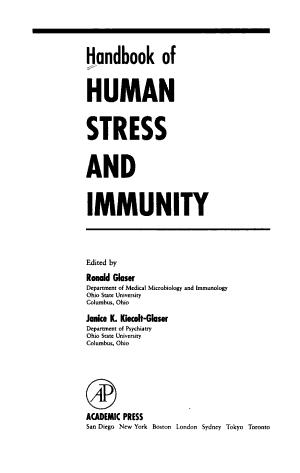Handbook of Human Stress and Immunity