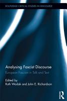 Analysing Fascist Discourse PDF