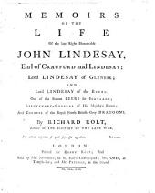 Memoirs of the life of John Lindesay Earl of Cranfurd