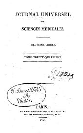 Journal universel des sciences médicales: Volume 34