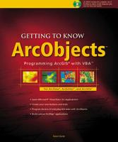 Getting to Know ArcObjects PDF