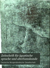 Zeitschrift für ägyptische sprache und altertumskunde: Band 42