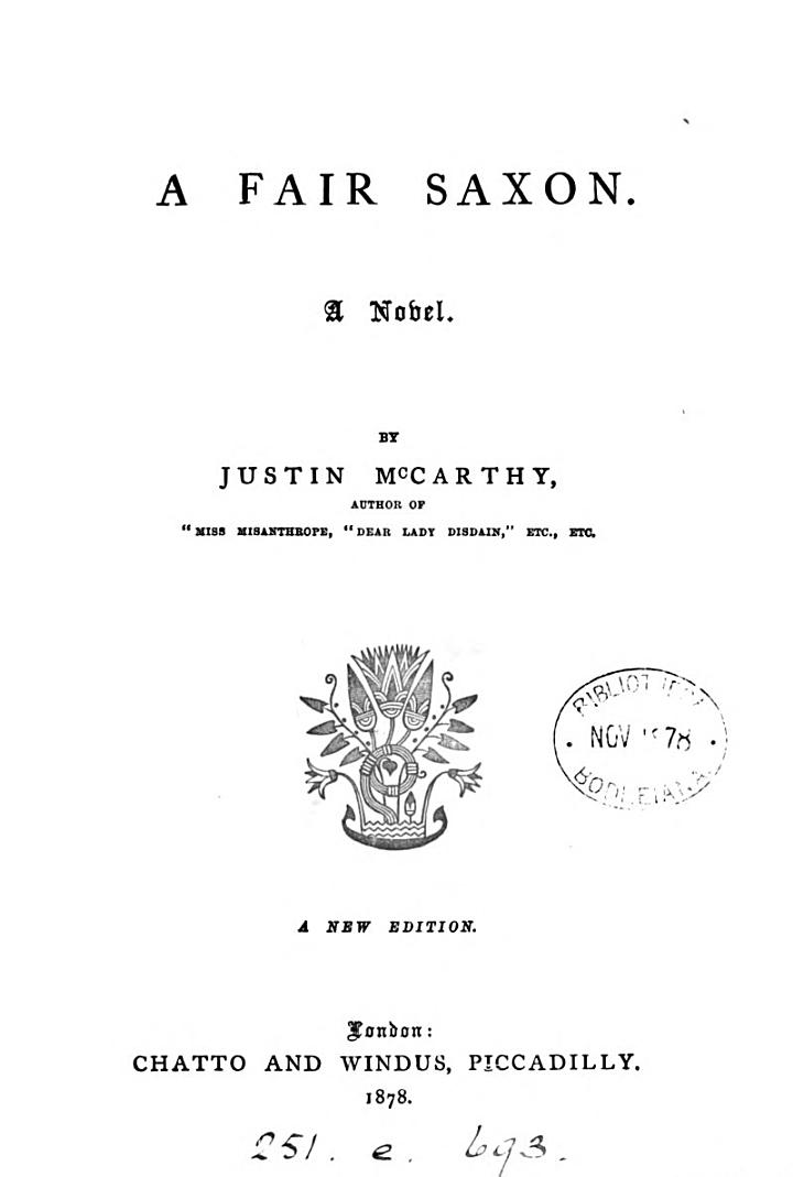 A fair Saxon