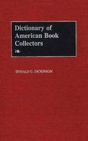 Dictionary of American Book Collectors PDF