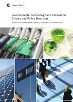 Environmental Technology and Innovation Drivers and Policy Measures PDF