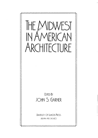 The Midwest in American Architecture PDF