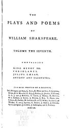 The Plays And Poems Of William Shakspeare Book PDF
