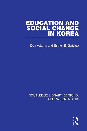 Education and Social Change in Korea PDF
