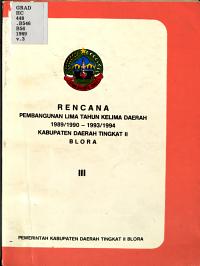 Rencana pembangunan lima tahun kelima daerah 1989 1990 1993 1994 PDF