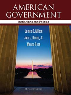 American Government  Institutions and Policies Book