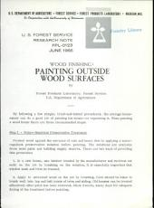 Wood finishing: painting outside wood surfaces