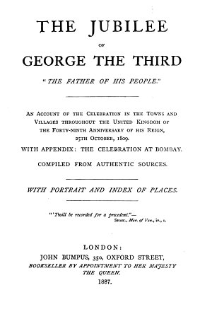 The Jubilee of George the Third