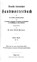 Deutsch lateinisches Handw  rterbuch PDF