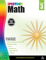Spectrum Math Workbook  Grade 3 PDF