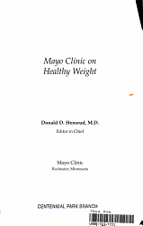 Mayo Clinic On Healthy Weight Book PDF