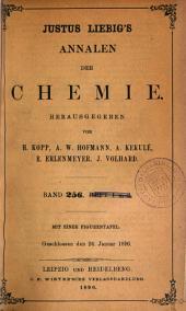 Justus Liebigs Annalen der Chemie: Band 256