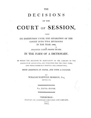 The Decisions of the Court of Session PDF