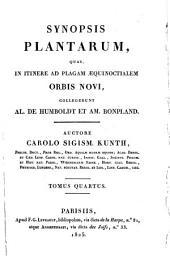 Synopsis plantarum: quas, in itinere ad plagam aequinoctialem orbis novi, collegerunt Al. de Humboldt et Am. Bonpland,