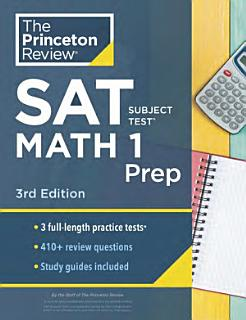 Cracking the SAT Subject Test in Math 1 Book