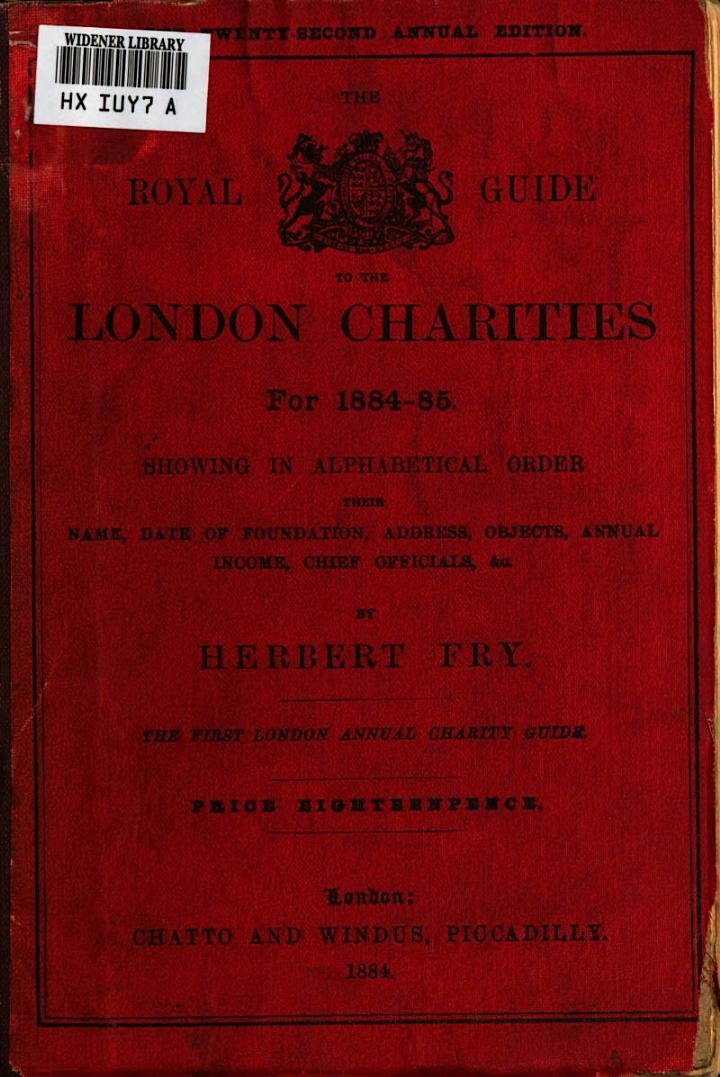The Royal Guide to the London Charities